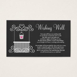 Chalkboard Wedding Wishing Well Business Card