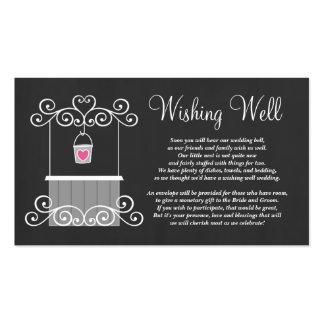 Chalkboard Wedding Wishing Well Business Card Templates