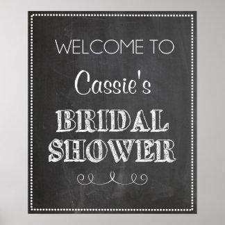 Chalkboard Welcome Bridal Shower Sign
