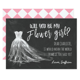 Chalkboard Will You Be My Flower Girl Card