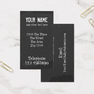 Chalkboard With Chalk Text Effect Business Card