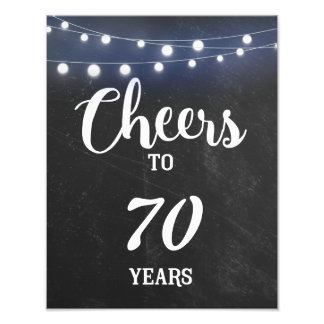 Chalkboard with LIGHTS BIRTHDAY SIGN