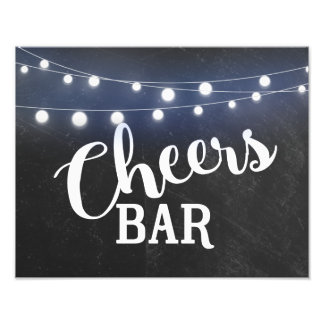 Chalkboard with LIGHTS Cheer Bar sign
