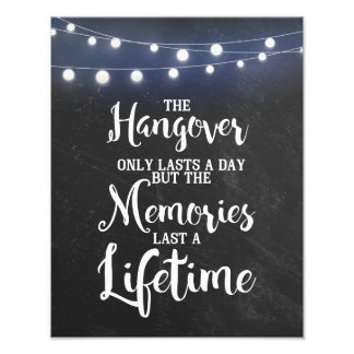 Chalkboard with lights wedding party Hangover SIGN