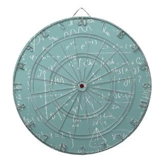 Chalkboard With Mathematical Symbols Dartboard
