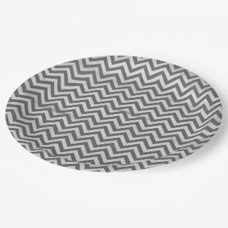 Chalkboard Zig Zag 9 Inch Paper Plate