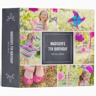 Chalked Collage All Purpose Photo Album Vinyl Binders