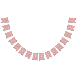 Chalky Pastel Pink Wedding Decoration Bunting Flags