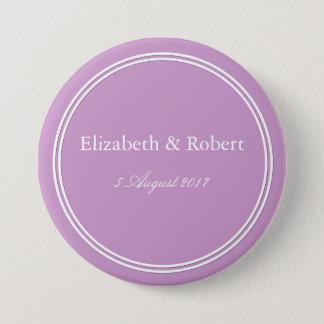 Chalky Pastel Violet Wedding Decoration Set 3 Inch Round Button