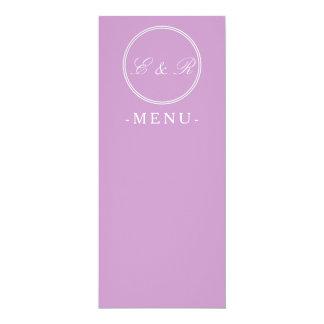 "Chalky Pastel Violet Wedding Decoration Set 4"" X 9.25"" Invitation Card"