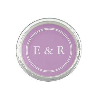Chalky Pastel Violet Wedding Decoration Set Photo Ring