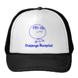 Challenge Accepted Blue & White Text Mesh Hat