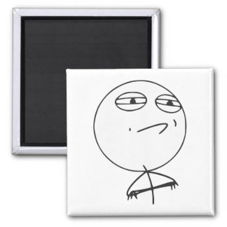 Challenge Accepted Rage Face Comic Meme Refrigerator Magnet