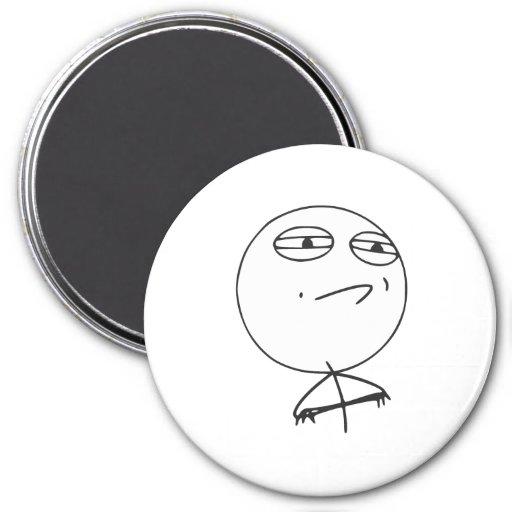 Challenge Accepted Rage Face Comic Meme Fridge Magnets