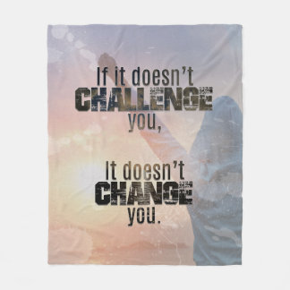 Challenge Athletic Quote Blanket