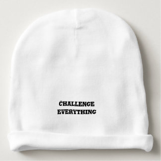 Challenge Everything Text Baby Beanie