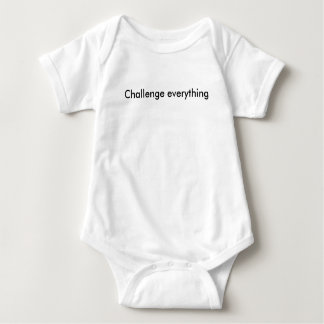 Challenge Everything Text Baby Bodysuit