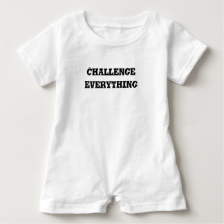 Challenge Everything Text Baby Romper