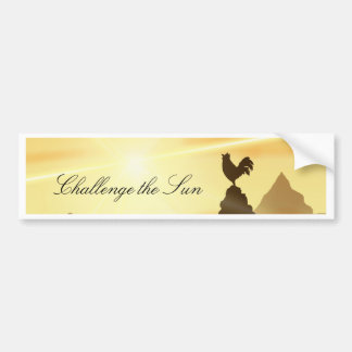 Challenge the Sun Bumper Sticker