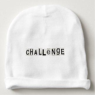 Challenge word concept. baby beanie
