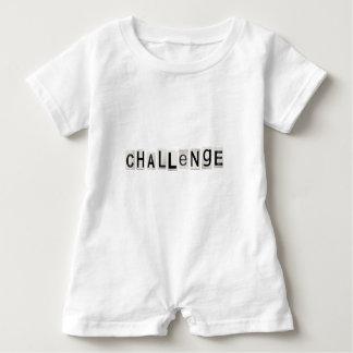Challenge word concept. baby romper