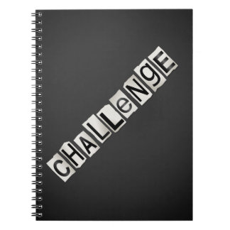 Challenge word concept. notebooks