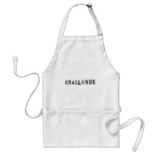 Challenge word concept. standard apron