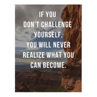 Challenge Yourself Quote Postcard