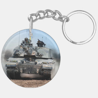 Challenger 2 Main Battle Tank (MBT) British Army Double-Sided Round Acrylic Keychain