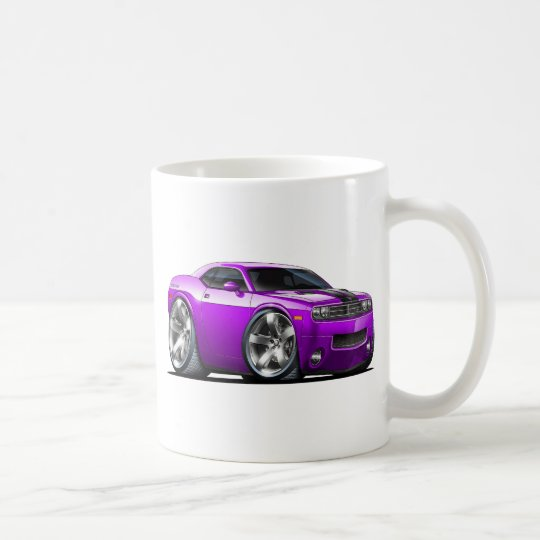 Challenger Purple Car Coffee Mug