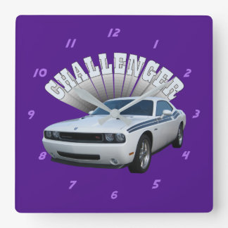 Challenger Square Wall Clock
