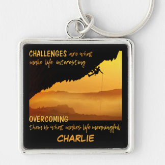 CHALLENGES custom name key chain