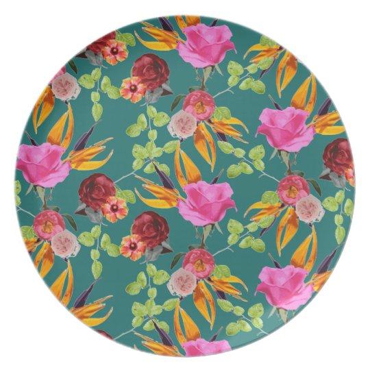 Chaman Garden (Green) Plate