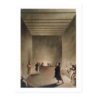 Chamber and Sarcophagus in the Great Pyramid of Gi Postcard
