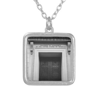 Chamber of Commerce Silver Plated Necklace