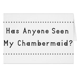 Chambermaid Card