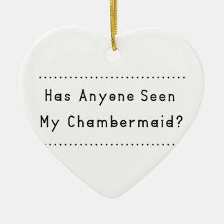 Chambermaid Ceramic Heart Ornament