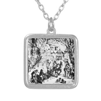 Chambers_Yule_Log Silver Plated Necklace
