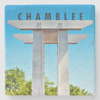 Chamblee Sign, Chamblee, Georgia, Marble Coasters