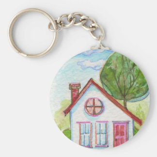 Chambre colorée d'aquarelle porte-clef
