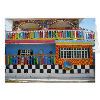Chambre colorée sur Isla Mujeres, Mexique Carte De Correspondance
