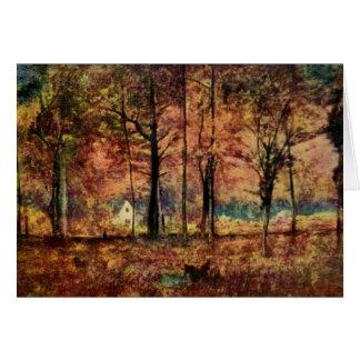 Chambre dans la carte de note de pré d'automne