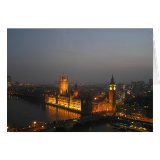 Chambre de Londres du Parlement Carte De Vœux