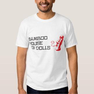 Chambre en bambou du T-shirt noir des hommes de