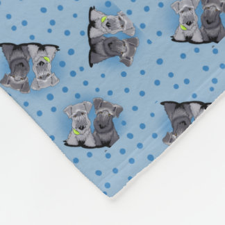 Chambrray Cesky Terriers Fleece Blanket
