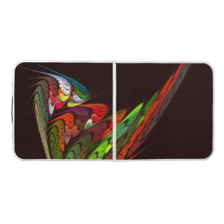 Chameleon Abstract Art Beer Pong Table