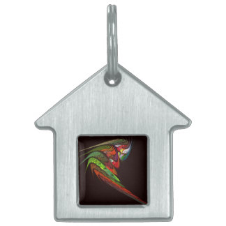 Chameleon Abstract Art House Pet Name Tag