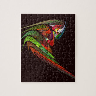 Chameleon Abstract Art Jigsaw Puzzle