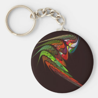 Chameleon Abstract Art Keychain