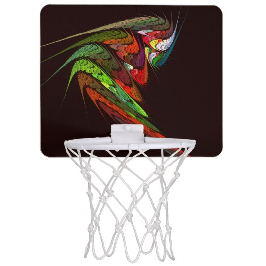 Chameleon Abstract Art Mini Basketball Hoop